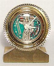 Accutron Space Brass Mini Clock Stock# 802c
