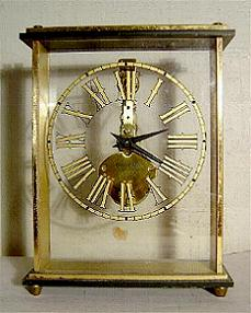 Bulova Brass 8 Day Carriage Clock Stock# 804c