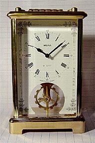 Bulova Brass 8 Day Modern Carriage Clock Stock# 804c