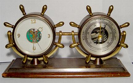 Accutron Space Brass/Wood Ships/Barometer Clock
